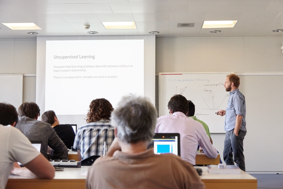 Machine Learning Workshop Photo mit Michael Graber